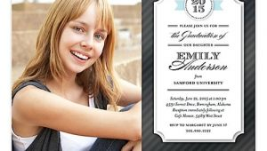 Wallet Size Graduation Invitations Fun Flirty Colorful Invitations Holiday Cards More
