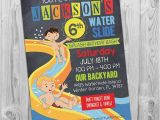 Water Slide Party Invitations Water Slide Party Invitation Printable Birthday Invite for
