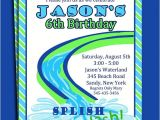 Water Slide Party Invitations Water Slide Pool Party Invitation Printable or Printed with
