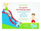 Water Slide Party Invitations Water Slide Waterslide Birthday Invitations 5 Quot X 7