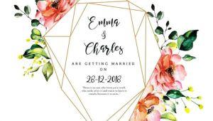 Watercolor Floral Wedding Invitation Template Beautiful Watercolor Floral Wedding Invitation Card