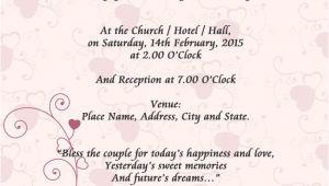 Wedding Card Invitation Example Sample Wedding Card Invitation In 2019