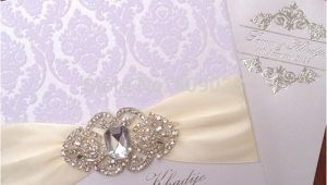 Wedding Invitation Brooches Elegant Wedding Invitations with Brooches