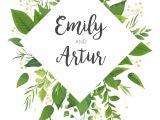 Wedding Invitation Designs Green Green Wedding Invitation Floral Invite Card Design