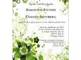Wedding Invitation Designs Green Retro Green Floral Wedding Invitation
