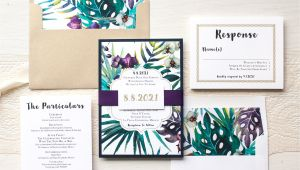 Wedding Invitation Jewels Jewel tone Tropics Destination Wedding Invitations