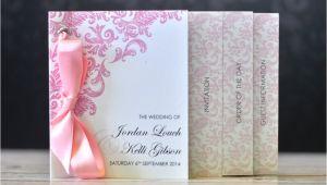 Wedding Invitation Minibook Mini Book Wedding Invitation Damask