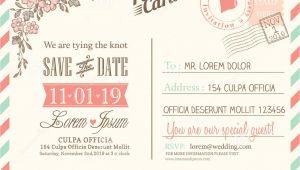 Wedding Invitation Postcards Templates Vintage Postcard Background for Wedding Invitation Stock