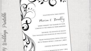 Wedding Invitation Template Black and White Wedding Invitation Templates Black and White