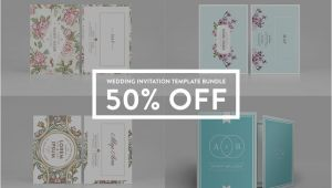 Wedding Invitation Template Bundle Wedding Invitation Bundle 50 Off Invitation Templates