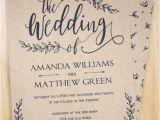 Wedding Invitation Template Buy Rustic Wedding Invitation Printable Leaf Design Decor