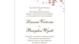 Wedding Invitation Template Cherry Blossom Cherry Blossom Wedding Invitation Pink Wedding Template Shop