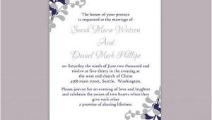 Wedding Invitation Template Download Word Diy Wedding Invitation Template Editable Word File Instant