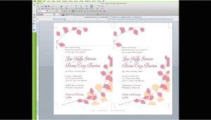 Wedding Invitation Template Editor How to Edit A Wedding Invitation Template In Word Youtube