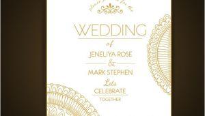Wedding Invitation Template Elegant Elegant Wedding Invitation Template Vector Free Download