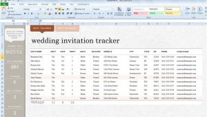Wedding Invitation Template Excel Wedding Invite List Template for Excel 2013