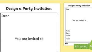 Wedding Invitation Template Eyfs Party Invitation Templates Party Invitation Templates