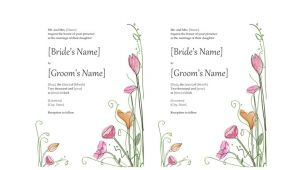 Wedding Invitation Template for Ms Word Microsoft Word 2013 Wedding Invitation Templates Online