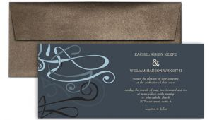 Wedding Invitation Template Horizontal 4×9 Horizontal Graphic Wedding Invitation Templates 9×4 In