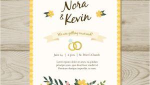 Wedding Invitation Template Jpg Floral Wedding Invitation Template Vector Free Download