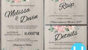 Wedding Invitation Template Kit Printable Floral Wedding Invitation Kit Templates Rsvp