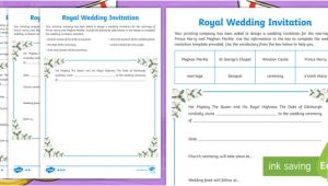 Wedding Invitation Template Ks2 Royal Wedding Invitation Writing Template Prince Harry