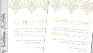 Wedding Invitation Template Lace Wedding Invitation Template Lace Trim Silver
