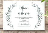 Wedding Invitation Template Landscape Rustic Printable Wedding Invitation Template Set Connie