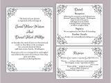 Wedding Invitation Template On Word Diy Wedding Invitation Template Set Editable Word File