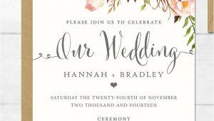 Wedding Invitation Template Online 16 Printable Wedding Invitation Templates You Can Diy