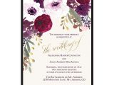 Wedding Invitation Template Png Floral Wedding Invitations Bohemian Purple Wine Flowers