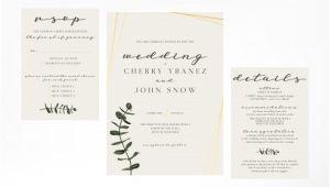 Wedding Invitation Template Simple Simple and Minimalist Feminine Wedding Invitation Template