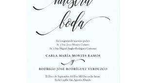 Wedding Invitation Template Spanish Nuestra Boda Editable Spanish Wedding Invitation Zazzle Com
