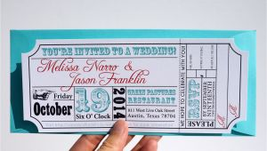 Wedding Invitation Template Ticket Movie Ticket Wedding Invitation