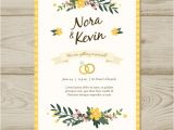 Wedding Invitation Template Vector Free Download Floral Wedding Invitation Template Vector Free Download