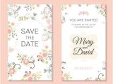 Wedding Invitation Template Vector Free Download Wedding Invitation Card Template with Floral Vectors 03