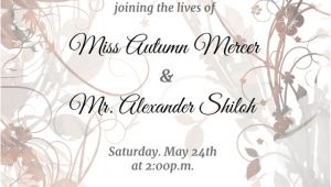 Wedding Invitation Template with Photo Floral Swirls Wedding Invitation Template Free