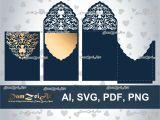 Wedding Invitation Templates 5 X 5 5×7 39 39 Wedding Invitation Card Laser Cut Template Ai Etsy