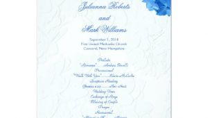 Wedding Invitation Templates 5 X 5 Blue Hydrangea 5×7 Wedding Program Template Card Zazzle