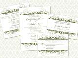 Wedding Invitation Templates 5 X 5 Diy Wedding Invitation Template Set 5×7 Invitation