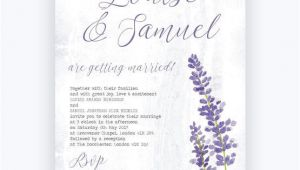 Wedding Invitation Templates Lilac Lilac Lavender Wedding Invitation From 1 00 Each