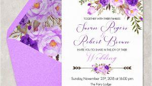 Wedding Invitation Templates Violet 16 Purple Invitation Templates Psd Ai Free Premium