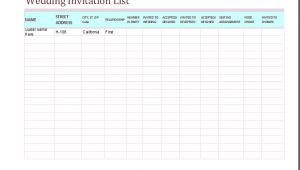 Wedding Invitation Tracker Template 5 Tracker Templates for Word Excel Word Document Templates
