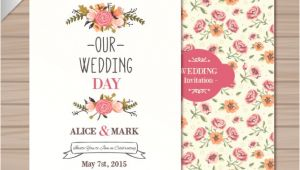 Wedding Invitation Vector Templates Free Download Wedding Invitation Template Vector Free Download