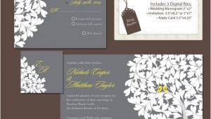 Wedding Invitations and Rsvp Packages Items Similar to Digital Wedding Invitation Package Diy