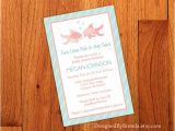 Wedding Invitations for Less Than A Dollar Large Bridal Shower Invitation Two Less Fish In the S with