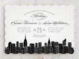 Wedding Invitations In Nyc Big City New York City Wedding Invitations by Hooray