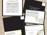Wedding Invitations In Nyc Cityscape Skyline Nyc New York City themed Wedding Suite