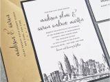 Wedding Invitations In Nyc Madison New York Skyline Wedding Invitation Sample