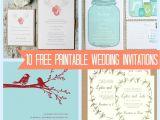 Wedding Invitations Online Free 10 Free Printable Wedding Invitations Diy Wedding